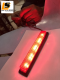 LEOMAX [ดวงไฟเหลี่ยม ML-1147  แดง] -  ดวงไฟทับทิมสะท้อนแสงทรงสี่เหลี่ยม พร้อมดวงไฟสำหรับติดตั้ง รุ่น ML-1147 ทับทิมสีแดง ชุด 1 ชิ้น