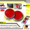LEOMAX ทับทิมสะท้อนแสงทรงวงกลมเล็ก ฐาน ABS ชุบโครเมียมเงา รุ่น SR-512 พร้อมกาว 3M ไม่ทำให้ผิวรถเสียหาย - ชุด 2 ชิ้น (ทับทิมสีแดง)