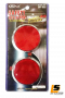 LEOMAX ??Safety Reflector Circular Big Size Style ABS base with Chrome Plating Model SR-532 with 3M adhesive does not damage the car surface. Set 2 Pieces (Reflector Red Color)