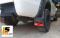 LEOMAX [กันโคลน BUDDY พื้นแดง ทับทิมแดง] -  ยางกันโคลน รุ่น Buddy พร้อมทับทิมสะท้อนแสงทรงสี่เหลี่ยมสีแดง ใช้ติดป้องกันสิ่งสกปรกกระเด็นจากล้อรถยนต์ไปโดนตัวถังรถ ชุด 2 ชิ้น (สีแดง ทับทิมแดง)