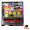 LEOMAX Multi-Purpose Coin Box contain 4 Type of Thai Coin with Card Holder Model CH-5906 (Box : Black Color , Coin Holder : Red Color)