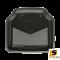 [BUNDLE 2 ชุด] LEOMAX [ถาด PVC HYBRID ดำ-ใยเทา หลัง แพค 2 ชิ้น] - ถาดปูพื้นพลาสติก PVC พร้อมใยไวนิล รุ่น LION KING  ด้านหลัง แพค 2 ชิ้น (สีดำ - ใยเทา)