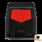 [BUNDLE 2 ชุด] LEOMAX [ถาด PVC HYBRID ดำ-ใยแดง หน้า แพค 2 ชิ้น] - ถาดปูพื้นพลาสติก PVC พร้อมใยไวนิล รุ่น LION KING  ด้านหน้า แพค 2 ชิ้น (สีดำ - ใยแดง)