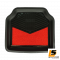 [BUNDLE 2 ชุด] LEOMAX [ถาด PVC HYBRID ดำ-ใยแดง หลัง แพค 2 ชิ้น] - ถาดปูพื้นพลาสติก PVC พร้อมใยไวนิล รุ่น LION KING  ด้านหลัง แพค 2 ชิ้น (สีดำ - ใยแดง)