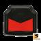 LEOMAX [ถาด PVC HYBRID ดำ-ใยแดง หลัง แพค 1 ชิ้น] - ถาดปูพื้นพลาสติก PVC พร้อมใยไวนิล รุ่น LION KING  ด้านหลัง แพค 1 ชิ้น (สีดำ - ใยแดง)
