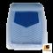 LEOMAX [ถาด PVC HYBRID ฟ้าใส-ใยน้ำเงิน หน้า แพค 1 ชิ้น] - ถาดปูพื้นพลาสติก PVC พร้อมใยไวนิล รุ่น LION KING  ด้านหน้า แพค 1 ชิ้น (สีฟ้าใส - ใยน้ำเงิน)