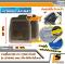 [BUNDLE 2 ชุด] LEOMAX [ถาด PVC HYBRID ดำใส-ใยน้ำตาล หน้า แพค 2 ชิ้น] - ถาดปูพื้นพลาสติก PVC พร้อมใยไวนิล รุ่น LION KING ด้านหน้า แพค 2 ชิ้น (สีดำใส-ใยน้ำตาล)