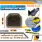 LEOMAX [ถาด PVC HYBRID ดำใส-ใยน้ำตาล หลัง แพค 1 ชิ้น] - ถาดปูพื้นพลาสติก PVC พร้อมใยไวนิล รุ่น LION KING  ด้านหลัง แพค 1 ชิ้น (สีดำใส-ใยน้ำตาล)