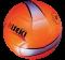 ฟุตบอลหนัง PVC No.5 ( สีส้มสะท้อนแสง )