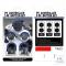 L2 R2 Trigger Extenders Set 5 IN 1 ชุดครอบปุ่มอนาล็อค R1 R2 / ปุ่ม D - PAD / จุกอนาล็อคแบบยกสูง 2 ข้าง