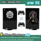 (ลายที่ 41-58) สติกเกอร์ฟิล์มกันรอยรอบตัว เครื่อง PS5 Sticker Protect Screen ลายคมชัด **สำหรับรุ่นใส่แผ่น**