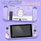 Akitomo™ เคส ซิลิโคน CASE Nintendo Switch เคสนิ่ม ลายน้องหมีม่วง