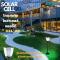 Super Bright GSL-02 Solar Light LED โคมโซล่าร์เซลล์แอลอีดี GSL-02 1.6 วัตต์ แสงเหลือง โคมโซล่าเซลล์แอลอีดี ตั้งพื้น  ติดในสวน ไม่ต้องมีคนเดินผ่านก็สว่างตลอดทั้งคืน ให้แสงขาวนวลคูลไวท์ ไม่ต้องจ่ายค่าไฟ ติดตั้งง่าย ไม่ต้องเดินสายไฟ ปลอดภัย