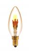 LED Filament Dimmable E14      หลอดแอลอีดี ฟิลาเมนต์ ปรับหรี่แสง ใช้ร่วมกับสวิตซ์ดิม ทรง เปลวเทียน ขนาด 4วัตต์ แสงวอร์มไวท์ E14