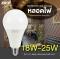 LED A80 E27 หลอดแอลอีดี  ขนาด 18, 20 และ 25 วัตต์ แสงเดย์ไลท์, วอร์มไวท์ และคูลไวท์ ขั้ว E27