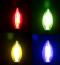 LED Filament Color หลอดแอลอีดี ฟิลาเมนต์ ขนาด 4 วัตต์ สีน้ำเงิน สีเหลือง สีเขียว สีแดง ขั้วE14 และ E27