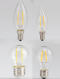 LED Filament E14/E27 หลอดแอลอีดี ฟิลาเมนต์ ขนาด 2W ขั้ว E14 และทรง GLS ขนาด 4 วัตต์ ขั้ว E27