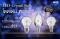 LED Crystal E14/E27 หลอดแอลอีดี คริสตัล ทรงเปลวเทียน,ทรงปิงปอง ทำจากแก้วคริสตัล แสงเป็นประกาย ขนาด 4 วัตต์ วอร์มไวท์