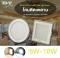 LED Panel light Messi Square Glass 6,12,18W โคมพาเนลไลท์แอลอีดี รุ่นเมสซี่ ขอบกระจก หน้าเหลี่ยม ขนาด 6,12,18 วัตต์ มีให้เลือกทั้งแสงขาวเดย์ไลท์ และแสงเหลือง วอร์มไวท์