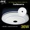 LED Ceiling S10 โคมเพดานแอลอีดี เปลี่ยนสีได้ 3 สี แสงขาวเดย์ไลท์  แสงคลูไวท์ขาวนวล และแสงเหลืองวอร์มไวท์ หรี่แสง เปิด-ปิด ด้วยสวิตซ์ ปิด-เปิด ทั่วไป ขนาด 36W