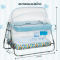 First Feels Baby Cradle Little One (FF-300-ONE-BL)