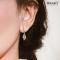 Lanna Lantern Rhodium Earrings