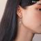Falling Rain Rectangle Earrings