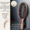 Genamaze Oval sandle wood bristle brush - Mini   หวีแปรงขนหมูป่าอย่างดี ช่วยถนอมเส้นผมและหนังศีรษะ ขนาด Mini สำหรับพกพา