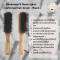 Genamaze 9 Rows nylon  cushioned hair brush - Pack 2 หวีแปรงไนล่อนด้ามไม้ ใช้ในการจัดแต่งทรงผม(copy)