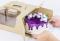 """กล่องเค้กหูหิ้วลูกฟูก  8.5x8.5x4.5"""" 5 PCS"""