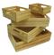 5 Bakery crate ลังไม้ 5 ตัว ชุดสีธรรมชาติ 28.5x39.5x10.5 cm.