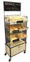 Bread rack ชั้นโชว์รุ่นตาข่าย และลังไม้ 3 ใบพร้อมตู้เก็บสินค้า 36x62x170 cm.