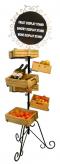 Bread rack and wheels กระบะสีธรรมชาติ มีล้อพร้อมเคลื่อนย้าย 75x75x180 cm.