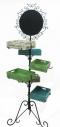 Bread rack and wheels รวมกระบะสี มีล้อพร้อมเคลื่อนย้าย 75x75x180 cm.