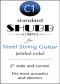 Shubb Standard Capo for Steel String Guitar - C1