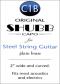 Shubb Original Capo for Steel String Guitar Brass - C1B
