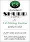 Shubb Standard Capo for 12-String Guitar - C3