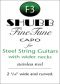 Shubb FineTune Capo - F3 for steel string guitars with wider necks