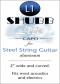 Shubb Lite Capo for Steel String Guitar - L1 Silver