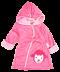 Full Sleeves Hooded Applique Bath Robe