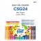 Amos Colorix Silky Gel Crayon (24 สี) ขนาด 8 mm