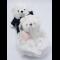 ตุ๊กตาหมีคู่รัก ส่วมชุดแต่งงาน แพ็ค 2 ตัว ขนาด 12 นิ้ว น่ารักมาก พร้อมส่ง