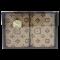 กิ๊ฟเซ็ทผ้าขนหนู ผ้าขนหนูของขวัญ ผ้าขนหนูปีใหม่ ผ้าขนหนูรับไหว้ ขนาด 27x54 นิ้ว สีน้ำตาล ลายหลุยส์ จำนวน 1 ผืน บรรจุในกล่องพรีเมี่ยม พร้อมส่ง