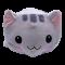 ตุ๊กตาแก๊งค์เลซี่ LAZY GANG ขนาด 50 ซม. หน้าแมว สีเทา ผ้าใยไมโครอย่างดี น่ารักน่ากอด พร้อมส่ง