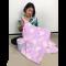 ผ้าห่มพกพา นาโน แบบม้วน หนานุ่ม พกพาสะดวก ลายน่ารักมาก สีพาสเทล ขนาด90x125ซม. คละลาย พร้อมส่ง