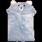 ผ้าคลุมไหล่ ผ้าคลุมไหล่มีหมวก ผ้านาโน นุ่มนิ่ม ขนาดกระทัดรัด สีพื้น หน้าปักหมี มี 2 สี พร้อมส่ง