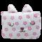 หมอนผ้าห่ม สีเทา ลายดาวชมพู น่ารัก หน้าปักกระต่ายหลับ พกพาง่าย ขนาด 35x55 นิ้ว/90x140 ซม. ห่มได้ ผ้านุ่ม (พร้อมส่ง)