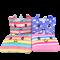 หมอนผ้าห่มคละลาย น่ารัก หน้าปักยูนิคอร์น 4 ลาย สีสันสดใส พกพาง่าย ขนาด 35x55 นิ้ว/90x140 ซม. ห่มได้ผ้านุ่ม (พร้อมส่ง)