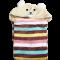 ผ้าคลุมไหล่ ผ้าคลุมไหล่มีหมวก ผ้านาโน นุ่มนิ่ม ขนาดกระทัดรัด หน้าปักหมี หมวกสีครีม ผ้าลายสีสดใส มี 4 ลาย พร้อมส่ง