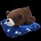 ตุ๊กตาหมีหมอนผ้าห่ม หมีขั้วโลก หมีขี้เซา ขนาด 50 ซม.สีน้ำตาลเข้ม ผ้าห่มด้าใน 36x60นิ้ว สีน้ำเงินลายดาว เส้นใยไมโคร พร้อมส่ง